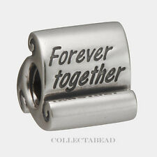 Authentic Pandora Sterling Silver Forever Together Scroll Bead 790513
