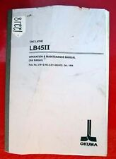 Okuma Lb45 Ii Cnc Lathe Operation & Maint. Manual: Pub No 3791-E-R2 (Inv. 12218)