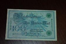 1 STÜCK 100 Mark Reichsbanknote 1908 RÜCKSEITE *FEHLDRUCK*