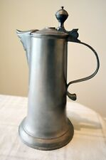"""Vintage Pewter Ewer Pitcher Teapot Stein Vessel 10"""" with Makers Mark"""