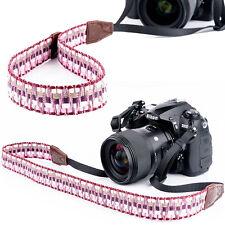 Vintage DSLR Camera Shoulder Neck Strap Hand Grip For Canon Nikon Sony Purple VS