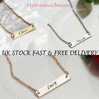 Personalised Love Heart Necklace 2 Names Birthstones Gold Jewellery Gift UK