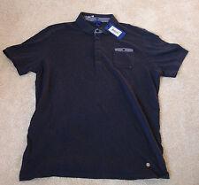 Joop Polo-Shirt Gr. XL Frommy Herren T-Shirt Joop-Logo Dunkelblau Neu m. Etikett