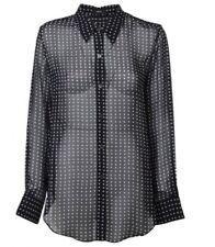 NWT Theory Sunaya NC Silk Blouse Black-Size P $275