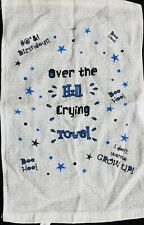 Over the Hill Crying Towel White Adult Theme Birthday Party Favor Gag Gift