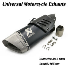 36-51mm Universal Motorcycle Exhaust Muffler Stainless Steel With Carbon fiber
