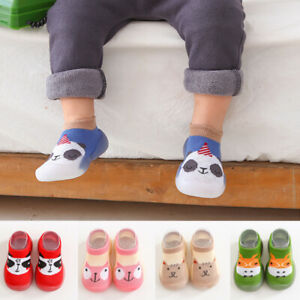 Kids Baby Girls Boys Toddler Anti-slip Slippers Socks Cotton Shoes Winter Warm