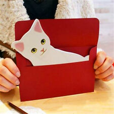FD5243 Holiday Greeting Cards Korea Cats A Message Memo Card X'mas Gift 1pc♫