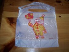 100 Unused Plastic Disposeable CLOWN Baby Bibs
