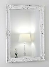 "Gerona White Shabby Chic Rectangle Vintage Wall  Mirror 91 x 66cm (35"" x 25"")"