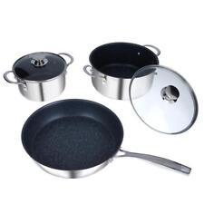 Curtis Stone Stainless Steel Dura-Pan Nonstick 5-piece Cookware Set
