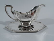 Reed & Barton Gravy Boat & Stand - 626 - Sauce Plate   American Sterling Silver