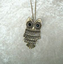 Owl Pendant Necklace or a Pin Bronze Chain Avon New Inner Wisdom Beautiful