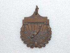 ANTIQUE BRONZE DIVING MEDAL WITH RING FOR SUSPENSION