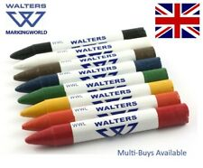 Industrial Crayon Wax Marker- Paper Card Polystyrene Walters WWL Warehouse Pack3