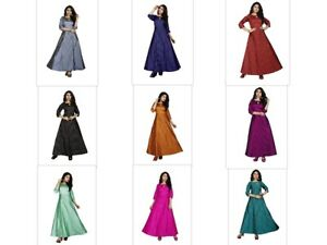 Traditional Ready Made Casual Wear Ethnic Women's Tapeta Buti Gown KZPU1-3