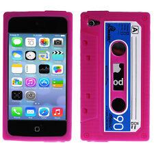 Silikon Schutzhülle Apple iPod Touch 4 Retro Kassette Pink Rosa