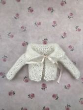 Blythe Doll Outfit -Hand Knitted Cream Coloured Mohair Cardigan/jacket For Blyth