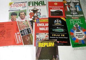 Job Lot of 8 Retro Football Magazines Includes MAN UNITED, STOKE, ENGLAND etc