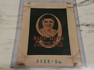 1927 Babe Ruth Underwear Box Lid New York Yankees Vintage RARE in GREAT SHAPE