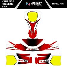 FP7 FREELINE EVO BIREL ART STYLE FULL KART STICKER KIT - KARTING  - ROTAX IAME