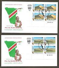 UN NY #588-589 Namibia - Set of 2 Artmaster MIB4FDCs