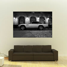 Poster of Aston Martin DB5 Left Side HD BW Huge Print 54x36 Inches