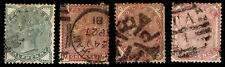 1880-81 GREAT BRITAIN #78-81 QV WMK 30 - USED - FINE - CV$161.50 (ESP#2629)