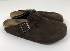 "Birkenstock ""Boston"" Open Back Clogs Dark Brown Suede Men's Sz US 9 Regular 42"