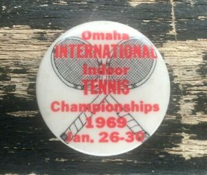 Vintage Pin Button Badge Lapel Pinback Omaha Tennis Sport Collectible 1 In 1969
