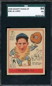 1938 Goudey Heads-Up AL LOPEZ #281 Boston Bees - SGC 84 / 7