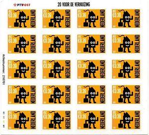 Onbekende plaatfout V1988 gele vlekjes naast zegels 16 en 20 postfris