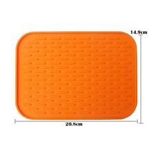 Silicone Kitchen Holder Mat Trivet Pot Tray Straightener Heat Non-slip Resistant