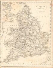 1840 ANTIQUE MAP - ENGLAND AND WALES