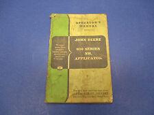 John Deere Operators Manual No.Om-N35-355,930 Series Applicator S8501