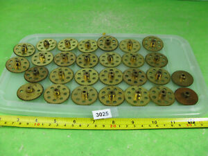 vintage meccano brass gears mixed lot construction toy 3025