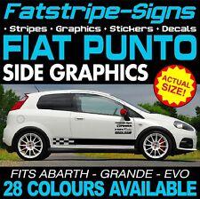 4x Car Doorsteps Sticker fits Fiat Punto Car Graphics Decal Vinyl YC13