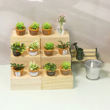 4Pcs Dollhouse Miniature Green Mini Potted For Green Plant In Po JE Y4
