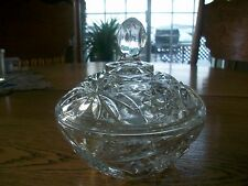 VINTAGE EARLY AMERICAN PRESCUT COVERED CANDY BOWL BY ANCHOR HOCKING