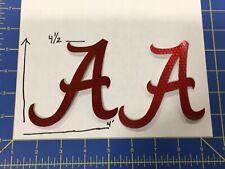 Alabama Crimson Tide FULL SIZE FOOTBALL HELMET DECALS Nike Combat Reflective