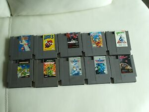 Nintendo NES Game Lot of 10 Super Mario Bros. 3, Punch-Out Teenage Ninja Turtles