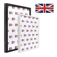 Thin Box Picture Photo Frame - Black, White, all sizes - made in the UK