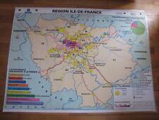 Carte Affiche scolaire type Vidal Ile de France