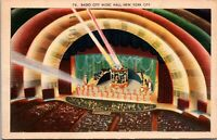 Radio City Music Hall Auditorium New York City Lavish Stage Shows NY Postcard