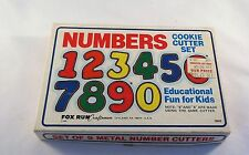 Vintage 1985 Fox Run Numbers Cookie Cutter Set #3640 Complete With Original Box