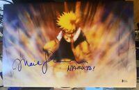 Maile Flanagan signed 11x17 photo Naruto Uzumaki w/ inscription Beckett D8
