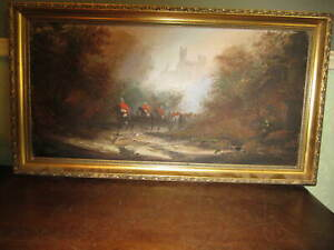 Oil on canvas - Soldiers on Horseback - Signed Delon / Don Hughes