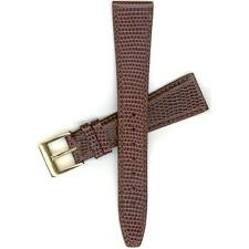 """Gucci 19mm Brown Genuine Leather Men's Size 4200M Watch Band """"907.19005"""""""