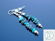 Chrysocolla Natural Chip Gemstone Earrings Drop Quartz Crystal Chakra Healing