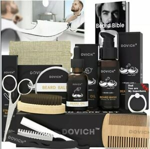 12 In 1 Beard Grooming Care Kit For Men, Dovich 100% Natural Beard Oil - SEALED
